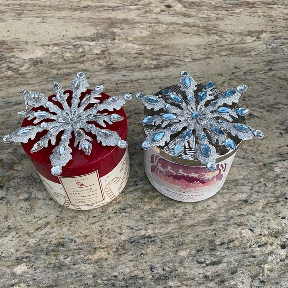 1 Snowflake Candle Magnet Topper